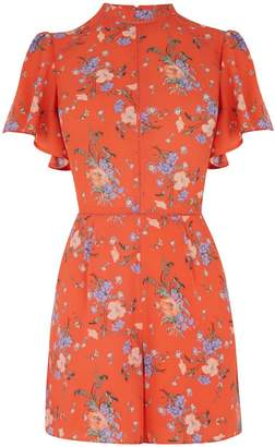Oasis High neck Provence playsuit
