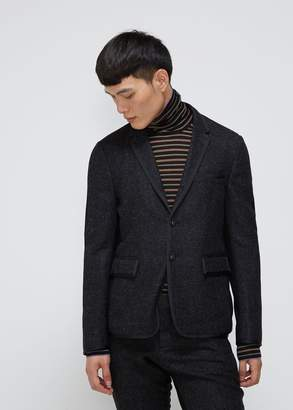 Thom Browne Bicolor Unconstructed High Armhole Suit Jacket