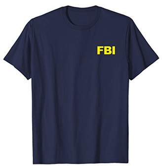 FBI Shirt Blue Front Back FBI Law Enforcement Cosplay