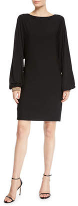 Trina Turk Jazz Hands Cuffed Long-Sleeve Dress