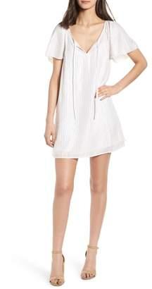 Hinge Metallic Stripe Shift Dress