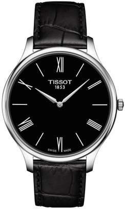 Tissot Tradition 5.5 Round Leather Strap Watch, 39mm