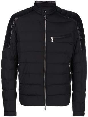 ... Moncler Meylan padded biker jacket