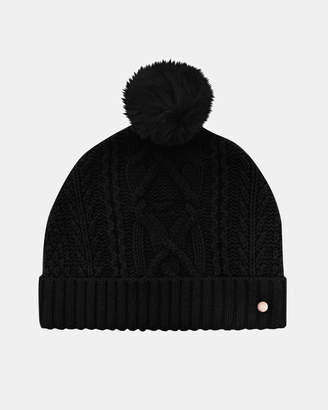 Ted Baker KYLIEE Cable knit wool-blend bobble hat