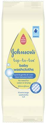 JOHNSON'S® Top-to-Toe® 15 Baby Washcloths Extra Large
