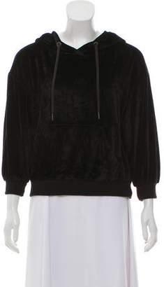 Alice + Olivia Hooded Three-Quarter Sleeve Sweatshirt