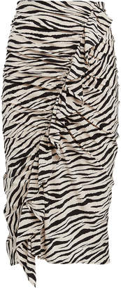 A.L.C. Metz Ruffled Zebra Print Skirt