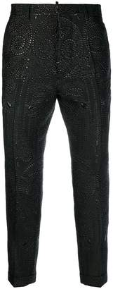 DSQUARED2 crystal embellished trousers