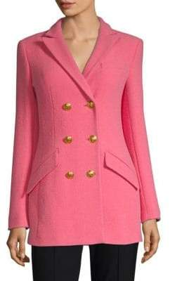 Escada Wool Blend Double-Breasted Jacket