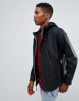 Hunter lightweight rubberised bomber in black