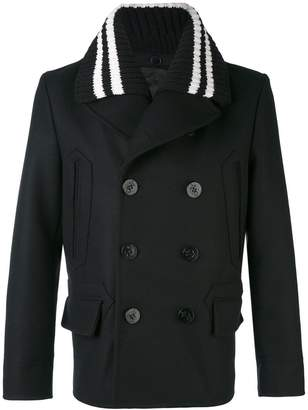 Givenchy knitted collar car coat