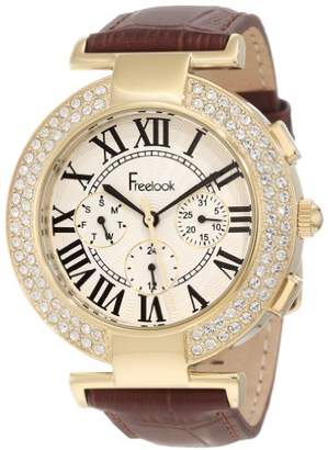 Freelook Women's Quartz Stainless Steel and Leather Casual Watch