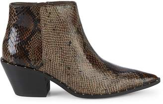 Charles by Charles David Snakeskin Embossed Faux Leather Ankle Boots