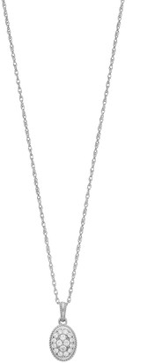 Lauren Conrad 10k White Gold 1/7 Carat T.W. Diamond Oval Pendant