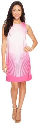 Vince Camuto Sleeveless Illusion Panel Shift Dress Women's Dress