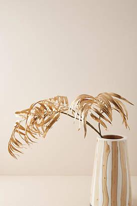 Anthropologie Golden Palm Faux Foliage