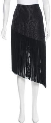 Rodarte Asymmetric Fringe Skirt