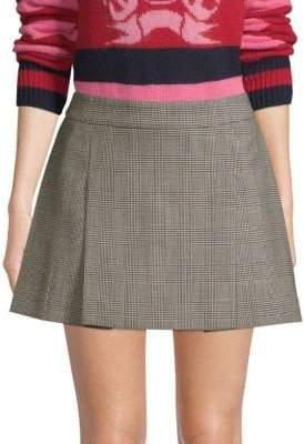 Tommy Hilfiger Tommy Pow Wool Houndstooth Mini Skirt