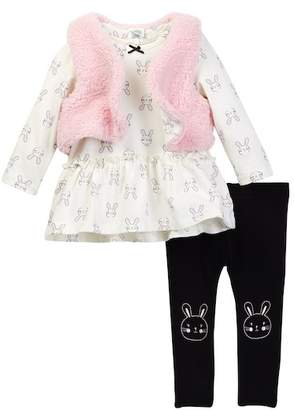 Little Me Bunny 3-Piece Vest Set (Baby Girls)