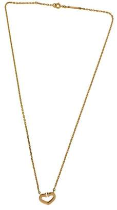 Cartier 18K Rose Gold Diamond Hearts and Symbols C Necklace