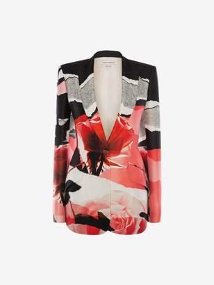 77bbea9cf Alexander McQueen Engineered Rose Collage Jacket