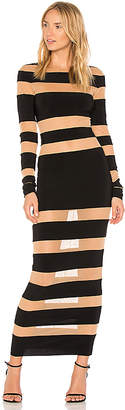 Norma Kamali Spliced Dress in Black $375 thestylecure.com