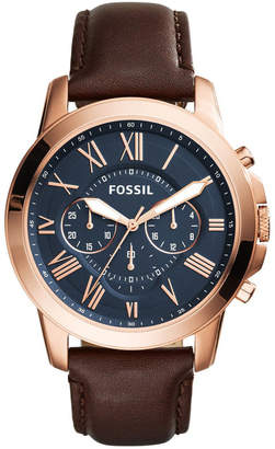 Fossil Grant Brown Chronograph Watch FS5068