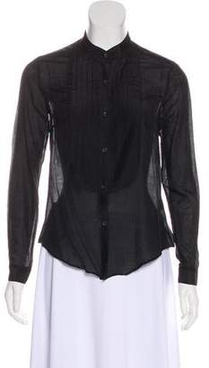 Jenni Kayne Sheer Long Sleeve Blouse