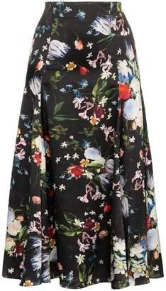 Erdem Vesper floral print midi skirt