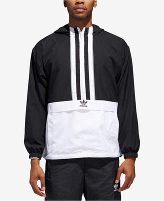 adidas Men's Originals Authentics Hooded Half-Zip Windbreaker