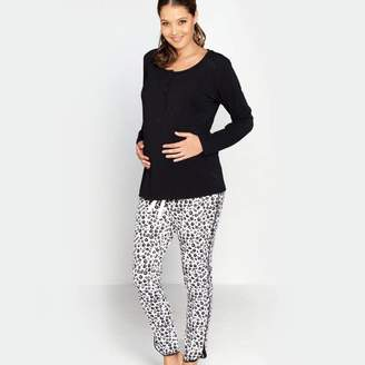 Angel Maternity Black And White Maternity/Breastfeeding Pyjamas