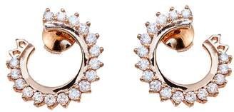 Vendome Aoyama Nouvel Heritage Diamond Hoop Earrings - Rose Gold