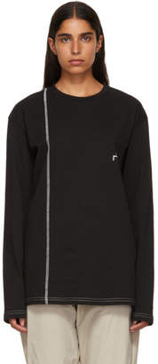 A-Cold-Wall* Black Bracket Logo Cut Line T-Shirt