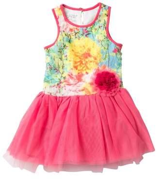 Pippa & Julie Printed Lace Tutu Dress (Toddler & Little Girls)