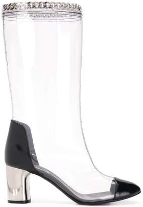 Casadei chain-embellished boots