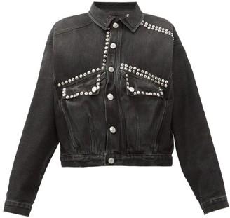 Martine Rose Studded Cotton Denim Jacket - Womens - Black