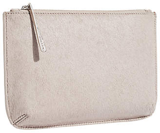 Jigsaw Alba Medium Textured Leather Pouch, Taupe