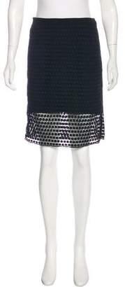 Tibi Embroidered Knee-Length Skirt