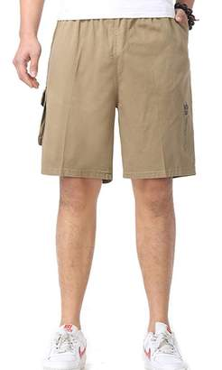 Insun Men's 100 Cotton Loose Fit Big Tall Cargo Shorts 3XL
