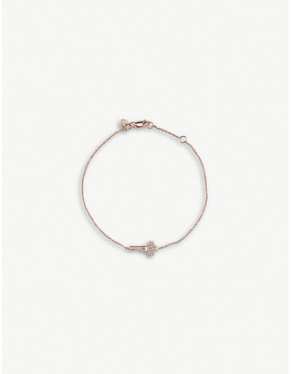 Sydney Evan The Alkemistry mini key 14ct rose-gold and diamond bracelet