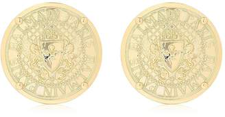 Balmain Logo Coin Earrings