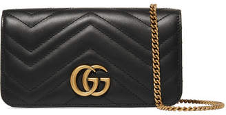 Gucci Gg Marmont Mini Quilted Leather Shoulder Bag - Black