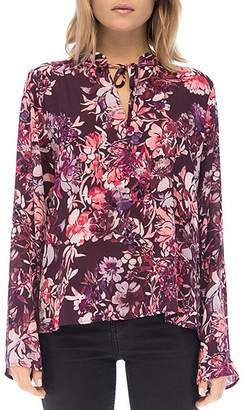 Bobeau B Collection by Samara Floral-Print Tie-Neck Top