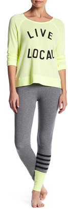 Sundry Color Block Stripe Yoga Pant $114 thestylecure.com