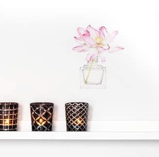 Little Sticker Boy Lotus Flower In Vase Wall Sticker