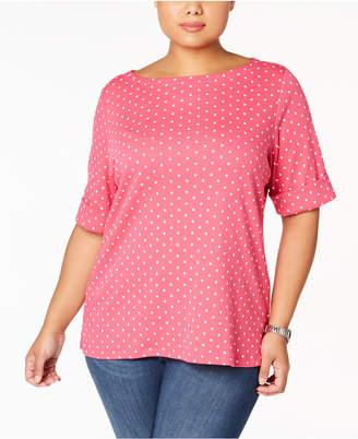 b091a407947 Karen Scott Pink Plus Size Tops - ShopStyle