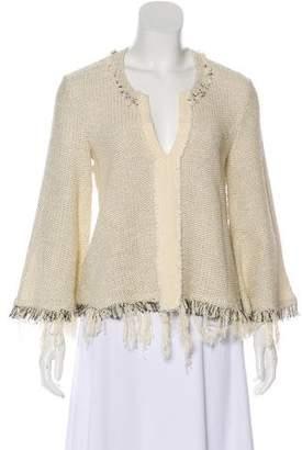 IRO Long Sleeve Fringe Sweater