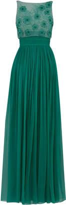 Rami Al Ali Beaded Top With Gathered Chiffon Skirt