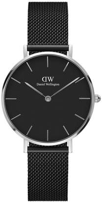 Daniel Wellington DW00100202 Classic Petite Ashfield Black and Silver Watch