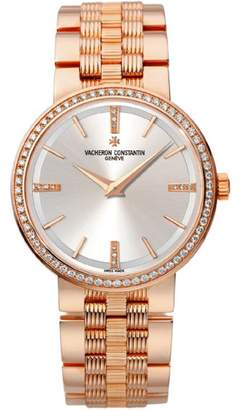 Vacheron Constantin 25557/q01r-9277 Traditionnelle 18K Rose Gold 30mm Watch $37,000 thestylecure.com